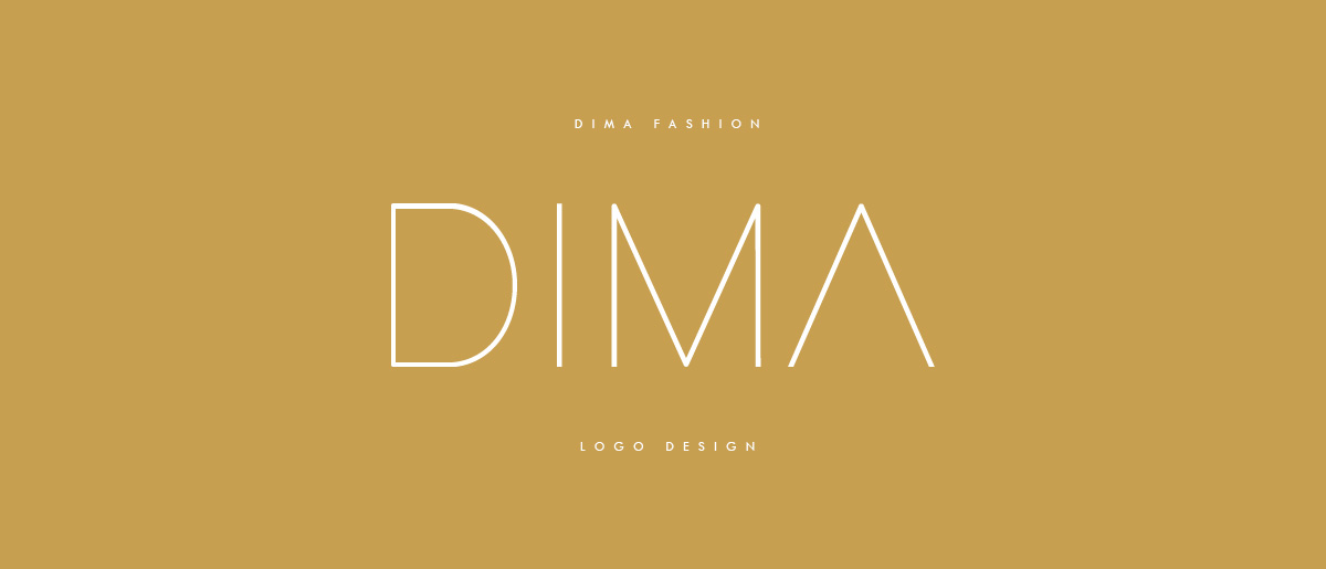 dima fashion logo design - DIMA Online Fashion