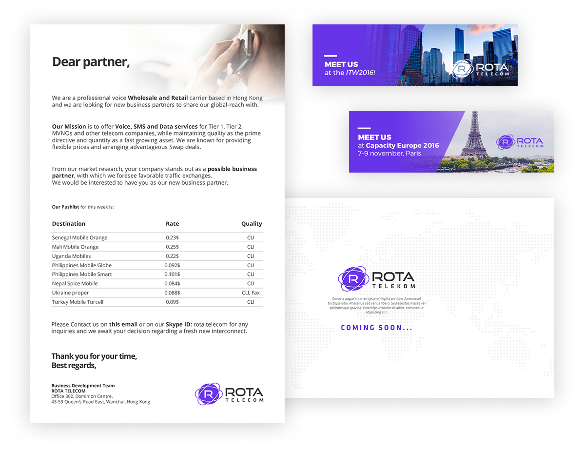 rota telecom banners - ROTA Telecom